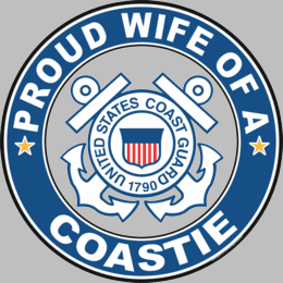 Proud Wife of a Coastie U.S. Coast Guard Round Decal