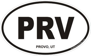 Provo Utah Oval Decal