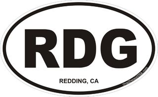Redding California Oval Decal