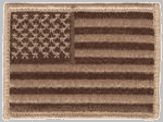 Sand American Flag Hook and Loop Patch