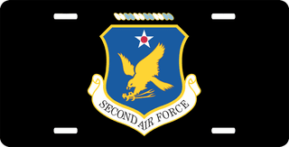 Second Air Force License Plate