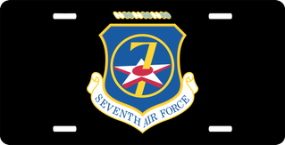 Seventh Air Force License Plate