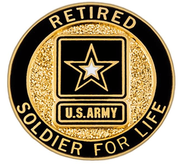 Soldier for Life Retired Lapel Pin