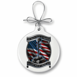 Soldiers Cross Christmas Ornament