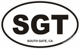South Gate California Oval Decal
