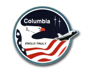 SPACE SHUTTLE COLUMBIA STS-03 VINYL TRANSFER DECAL