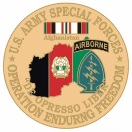"""Special Forces 1 1/8"""" Operation Enduring Freedom Lapel Pin"""
