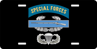 Special Forces CIB Jump Wings License Plate