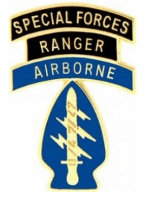 """Special Forces Ranger Airborne 1 1/8"""" Lapel Pin"""