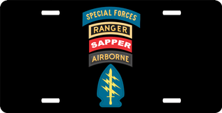 Special Forces Ranger Sapper Airborne License Plate