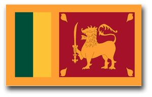 SRI Lanka Flag Vinyl Transfer Decal