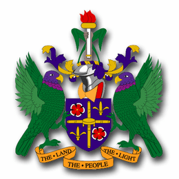 St. Lucia Coats Of Arms Decal