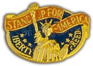 Stand Up America Lapel Pin