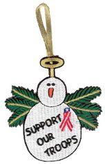 Support Our Troops Snowman 3