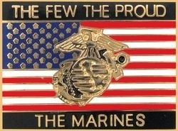 THE FEW THE PROUD THE MARINES' LAPEL PIN