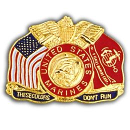 These Colors Don't Run Lapel Pin