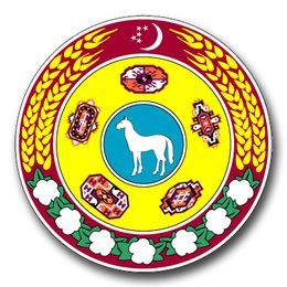 Turkmenistan Coats Of Arms Decal