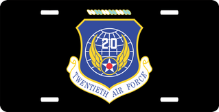 Twentieth Air Force License Plate