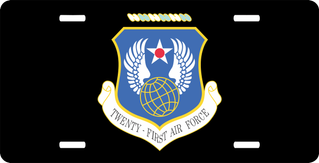 Twenty First Air Force License Plate