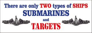 Two Types of Ships Submariner Bumper Sticker