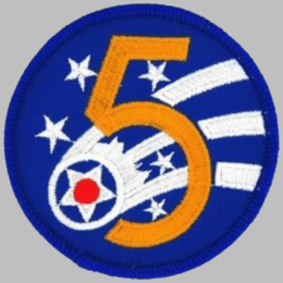 "U.S. Air Force 5th Air Force 3"" Patch"