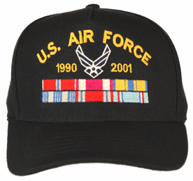 U.S. Air Force Custom Embroidered Ball Cap with Ribbons