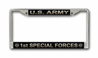 U.S. Army 1st Special Forces License Plate Frame