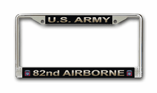 U.S. Army 82nd Airborne License Plate Frame
