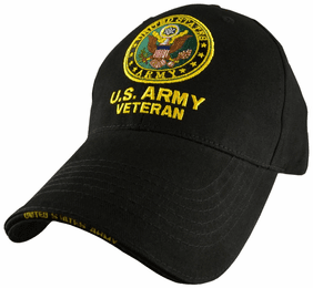 U.S. Army Veteran with Logo Direct Embroidered Cap