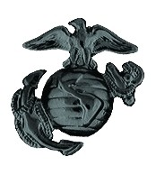 "U.S.M.C. Anchor Left Lapel Hat Pin 1-1/8"" - Black"