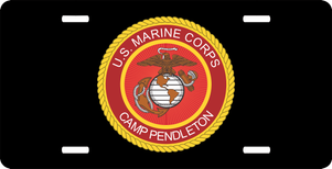 U.S. Marine Corps 'Camp Pendleton' License Plate