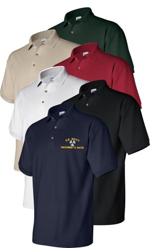 U.S. Navy Rate Custom Embroidered Polo Shirts