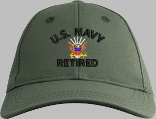 U.S. Navy Retired Embroidered Cap