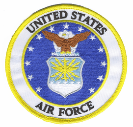 """UNITED STATES AIR FORCE EMBLEM 4"""" PATCH"""