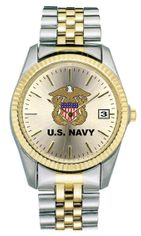 United States Navy Ladies Two Tone Watch