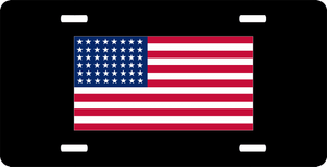 United States of America 48 Star Flag License Plate