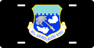 U.S. Air Force 107th Air Refueling Wing License Plate