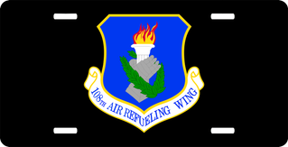 U.S. Air Force 108th Air Refueling Wing License Plate