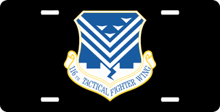 U.S. Air Force 116th Tactic Fighter Wing License Plate