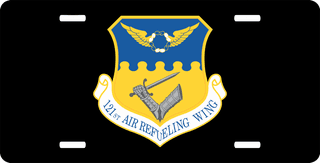 U.S. Air Force 121st Air Refueling Wing License Plate