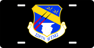 U.S. Air Force 128th Wing License Plate