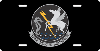 U.S. Air Force 129th Rescue Squadron License Plate