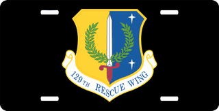 U.S. Air Force 129th Rescue Squadron Wing License Plate