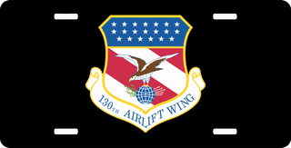 U.S. Air Force 130th Airlift Wing License Plate