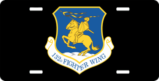 U.S. Air Force 132nd Fighter Wing License Plate