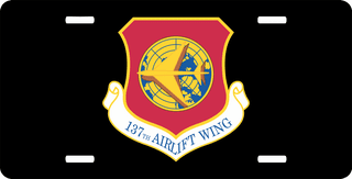 U.S. Air Force 137th Airlift Wing License Plate