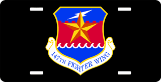 U.S. Air Force 147th Fighter Wing License Plate