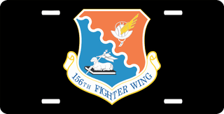 U.S. Air Force 156th Fighter Wing License Plate