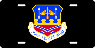 U.S. Air Force 165th Airlift Wing License Plate