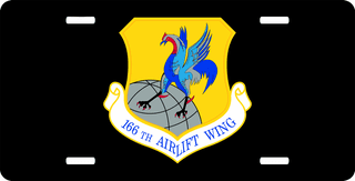 U.S. Air Force 166th Airlift Wing License Plate